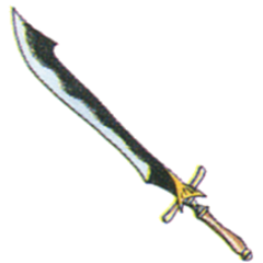 Concept art of Serpent Sword from <i><a href=