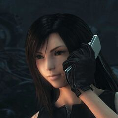 Tifa's cellphone in <i>Dirge of Cerberus</i>.