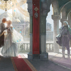 Noctis and Luna's wedding.