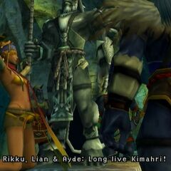Statue of Kimahri in <i>Final Fantasy X-2</i>.
