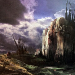Artwork of the Wildlands from <i>Lightning Returns</i>.
