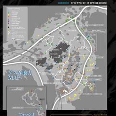Карта Даски из <i>Famitsu</i> с картой провала в углу.