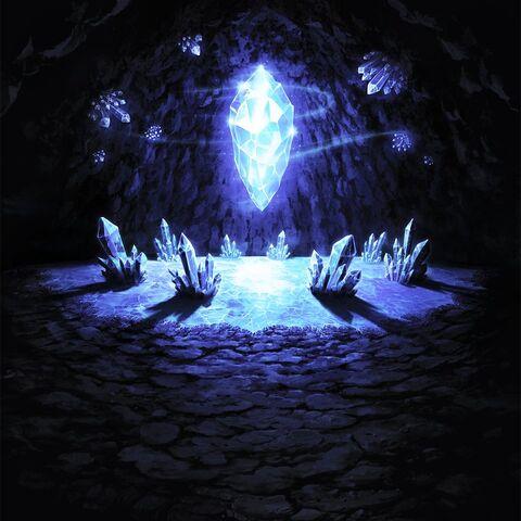 Фон сражения в комнате кристалла.