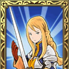 Agrias's Holy Knight portrait in <i><a href=