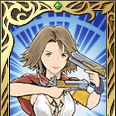 Retrato de Yuna de <i>Final Fantasy X-2</i>.