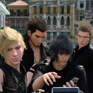 Promotional image for the <i>Final Fantasy XV</i> collaboration.