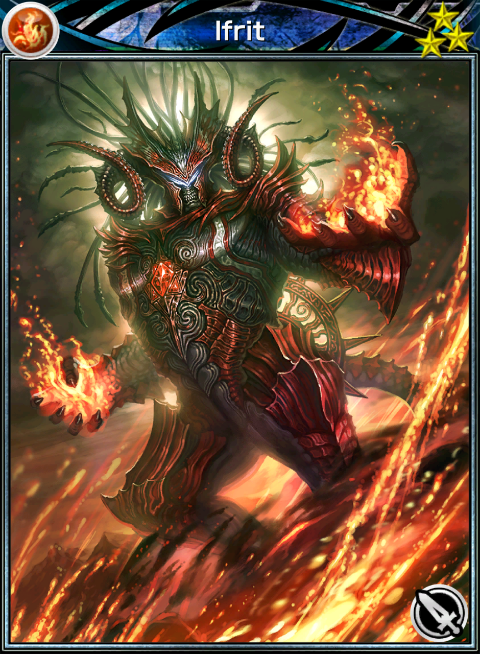 Image - Mobius - Ifrit R3 Ability Card.png | Final Fantasy ...