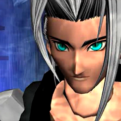Sephiroth in an FMV.