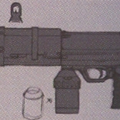 Concept art of the Machine Gun.