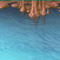 Battle background on water (GBA).