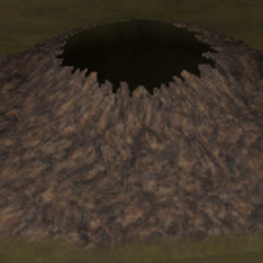 Render of Agart's volcano from underground (iOS).