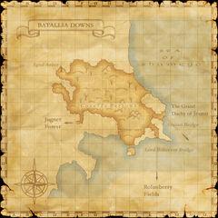 A map of Batallia Downs.