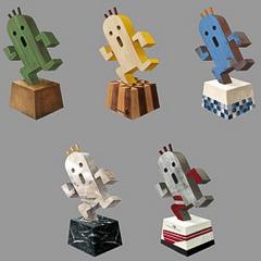 Talcott's cactuar statuettes.