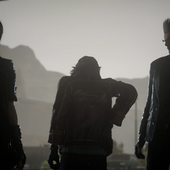 Cid with Noctis and Ignis.
