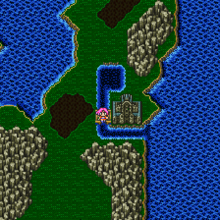 Sealed Castle on the overworld (SNES).
