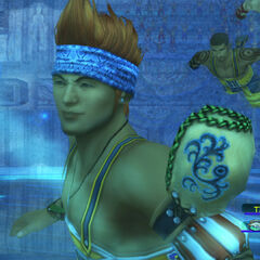 Wakka during a blitzball match.