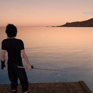 Рыбалка на рассвете.