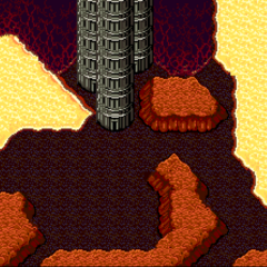 The base of the Tower of Babil in the Underworld (SNES).