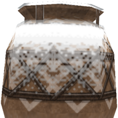 Treasure urn (snow).