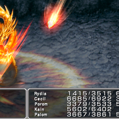 Twin Meteor <i>Final Fantasy IV</i> (PS).