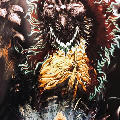 FFXIV Shinryu and Zenos artwork.