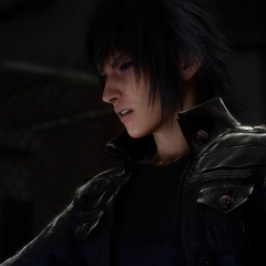Noctis puts on the Ring of the Lucii.