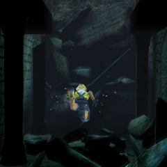 Underwater hallway.