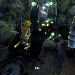 The hole in the Cavern of the Stolen Fayth's Chamber of the Fayth in <i>Final Fantasy X-2</i>.