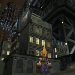 Cloud in Midgar from <i>Final Fantasy VII</i>.