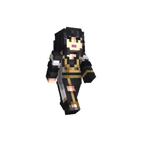<i>Minecraft</i> skin as Gentiana.