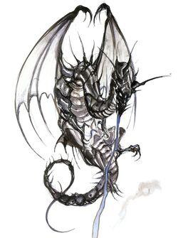 Bahamut Artwork Yoshitaka Amano (Final Fantasy IV)