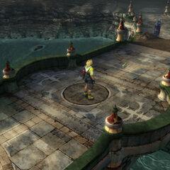 Bridge to the temple in <i>Final Fantasy X</i>.