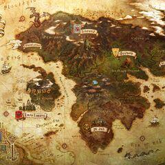 Mapa-mundi de Eorzea.