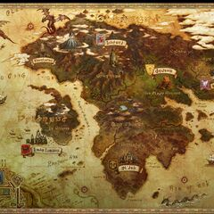 Eorzea World Map.