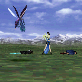 Rinoa defending.