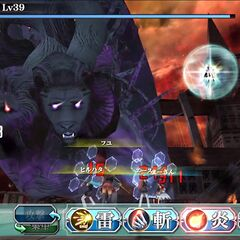 Cadets battle a monstrous beast during Finis in <i>Final Fantasy Agito</i>.