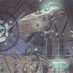 Imperial airship interior.