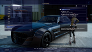 Regalia Customization menu from FFXV
