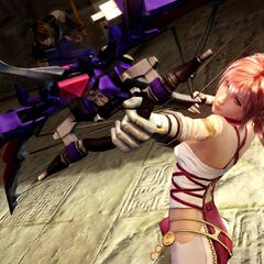 Serah using the Starseeker.