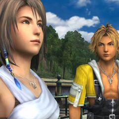 Tidus and Yuna in <a href=