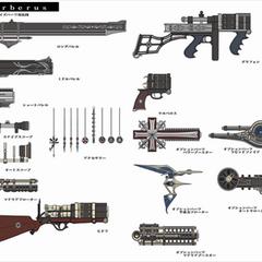 Gun parts.