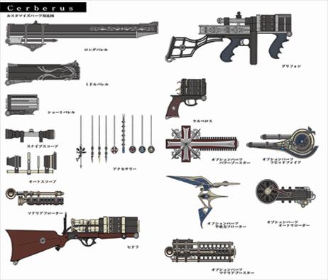Gun customization final fantasy wiki fandom powered by wikia doc gun parts artwork mozeypictures Choice Image