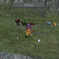 Eiko using an item.
