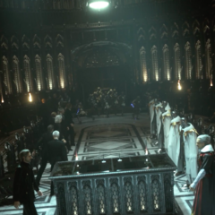 Встреча правителей Люциса (слева) и Нифльхейма (справа). Трейлер для Е2 2013.