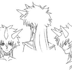 Head sketches.