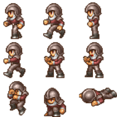 Wedge's battle sprite (PSP).
