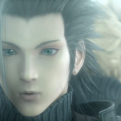 Zack as seen in <i>Final Fantasy VII: Advent Children Complete</i>.