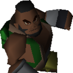 Barret wearing a parachute backpack.