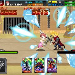 Скриншот из <i>Kingdom Hearts χ [chi]</i>.