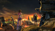 Tidus and Yuna in zanarkand